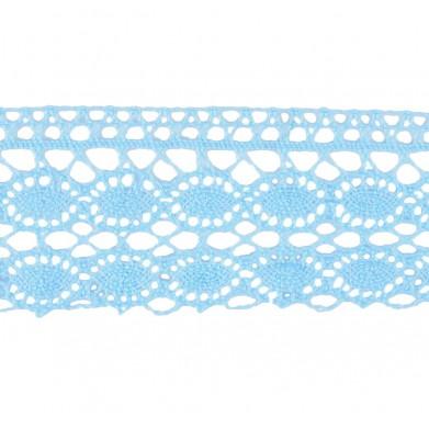 Puntilla hilo azul 4 cm