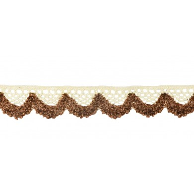 Puntilla hilo marrón 2 cm