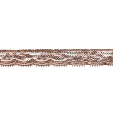 Puntilla nylon marrón 1 cm