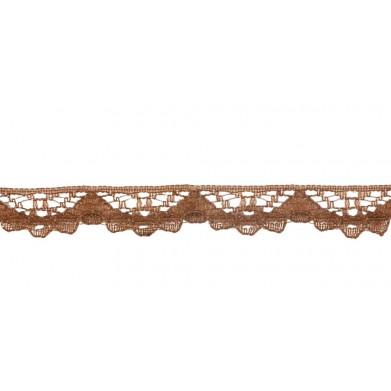 Puntilla nylon marron 1 cm