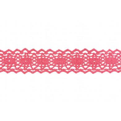 Entredós hilo rosa chicle 2 cm