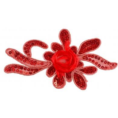 Flor roja lentejuelas
