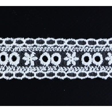 Puntilla hilo blanca 2,5 cm