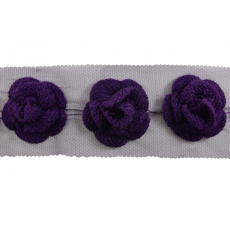 Flor lana violeta