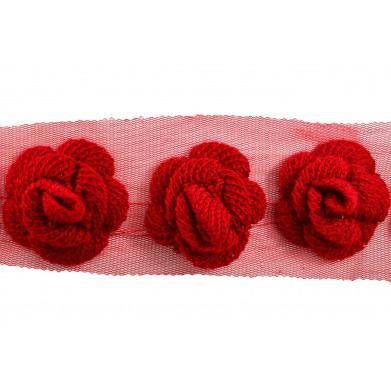 Flor lana roja