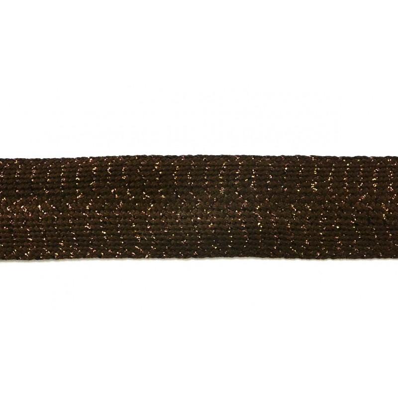 Pasamanería fiesta marrón 3,5 cm