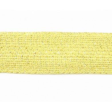 Pasamanería fiesta dorado 3,5 cm