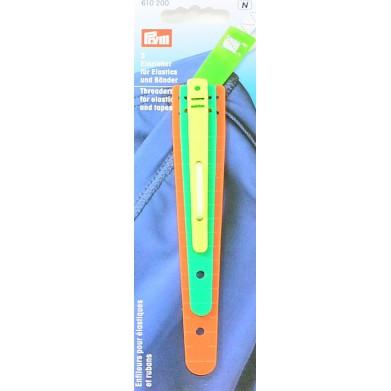Enhebradores para elásticos y cintas