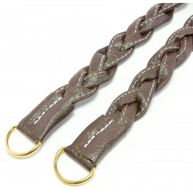 Asas para bolso cuero sintético marrón 50 cm