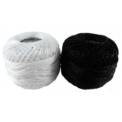 Crochet metalizado