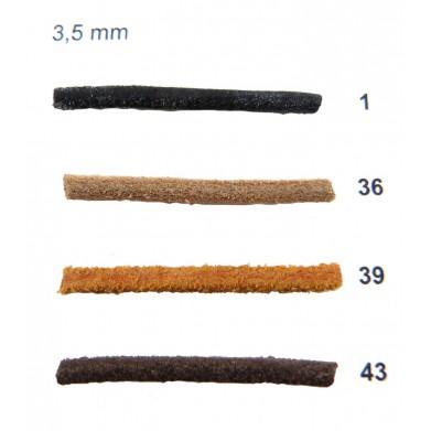 Cordón cuero naútico redondo 3,5 mm