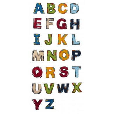 Parches letras termoadhesivas