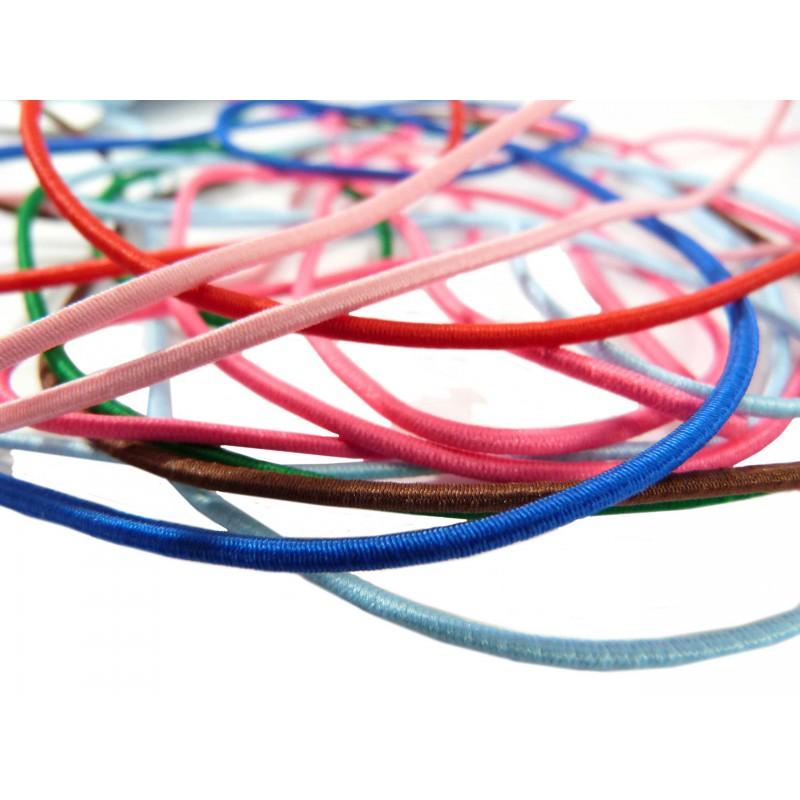 Cordón elástico 2mm colores