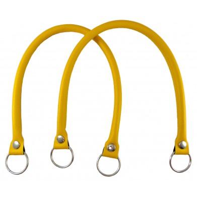 Asas de cuero sintético amarillo 55 cm