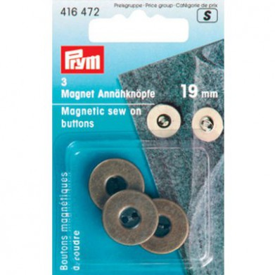 Imanes de coser Oro viejo 18mm