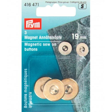 Imanes de coser oro 19mm