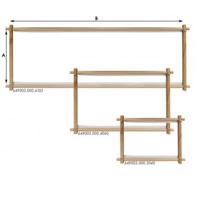 Bastidor rectangular de madera