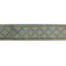 Tapacosturas rombos metalizado 30mm