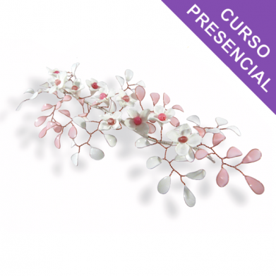 Técnicas y aplicación tocados flores de plumas
