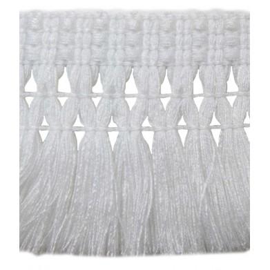 Fleco de tapicería blanco 7cm