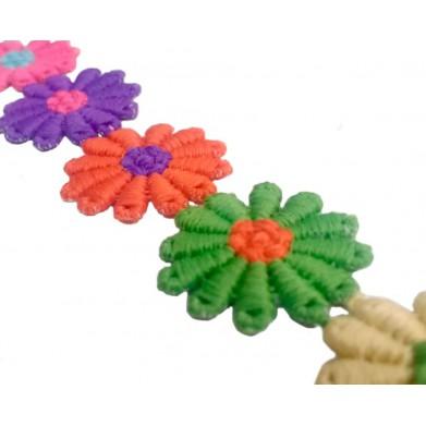 Pasamanería flores colores