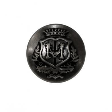 Botón metalizado grabado