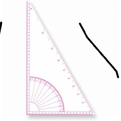 Regla de costura cartabón