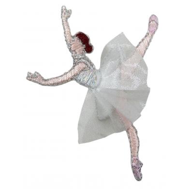 Parche bailarina gris 4x3cm