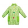Mandilón cuadros verde pistacho botón grande