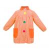 Mandilón cuadros naranja botón grande