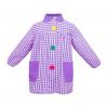 Mandilón cuadros lila botón grande