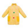 Mandilón cuadros amarillo botón grande