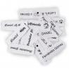 Etiquetas termoadhesivas marca ropa