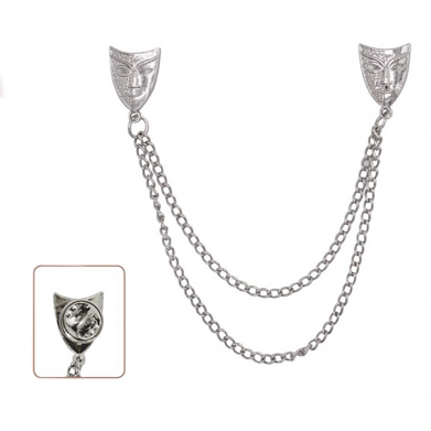 Broche pin con cadena máscaras