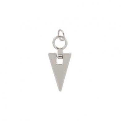 Tirador cremallera triangular