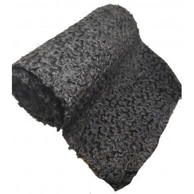 Astrakán sintético negro 34cm