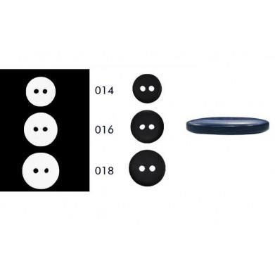 Botón jubón 2 agujeros mate