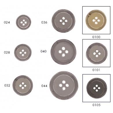 Botón metálico 4 agujeros...