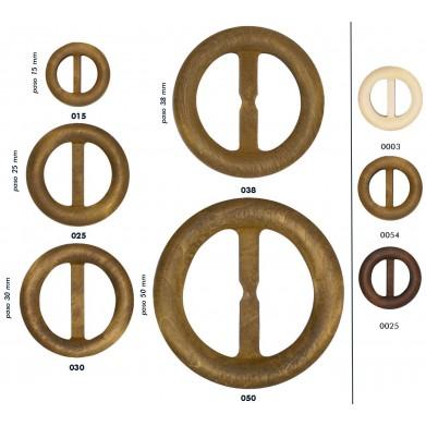 Hebilla de madera redonda