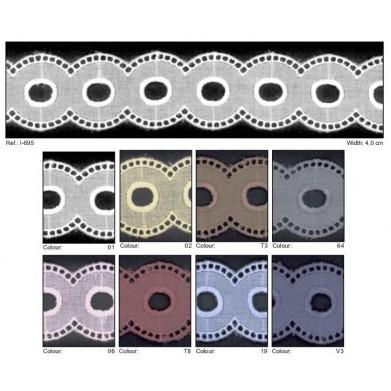 Entredós batista círculos 4 cm