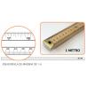 Regla de madera estrecha 1metro