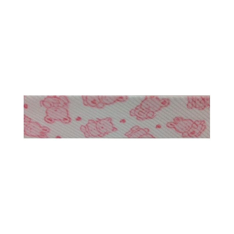 Bies animales en rosa (18 mm)