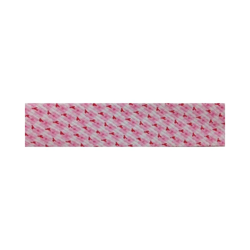 Bies - estampado rosa (18 mm)