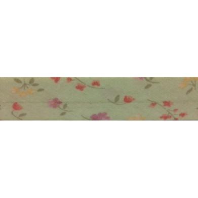 Bies flores fondo verde 18 mm