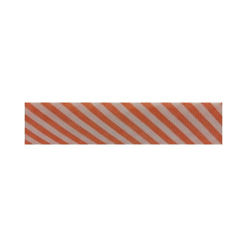 Bies rayas blanco y naranja (18 mm)