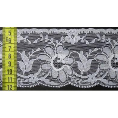 Puntilla nylon blanca 7,5 cm