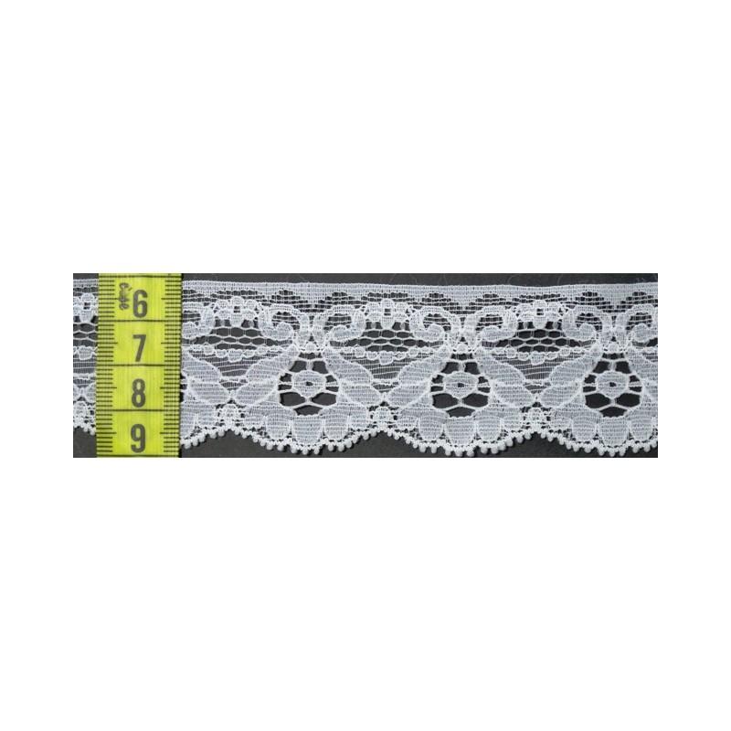 Puntilla nylon blanca 4 cm