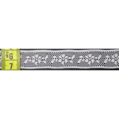 Puntilla nylon blanca 2 cm