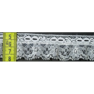 Puntilla nylon blanca 3,5 cm