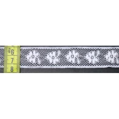 Puntilla nylon blanca 2,5 cm
